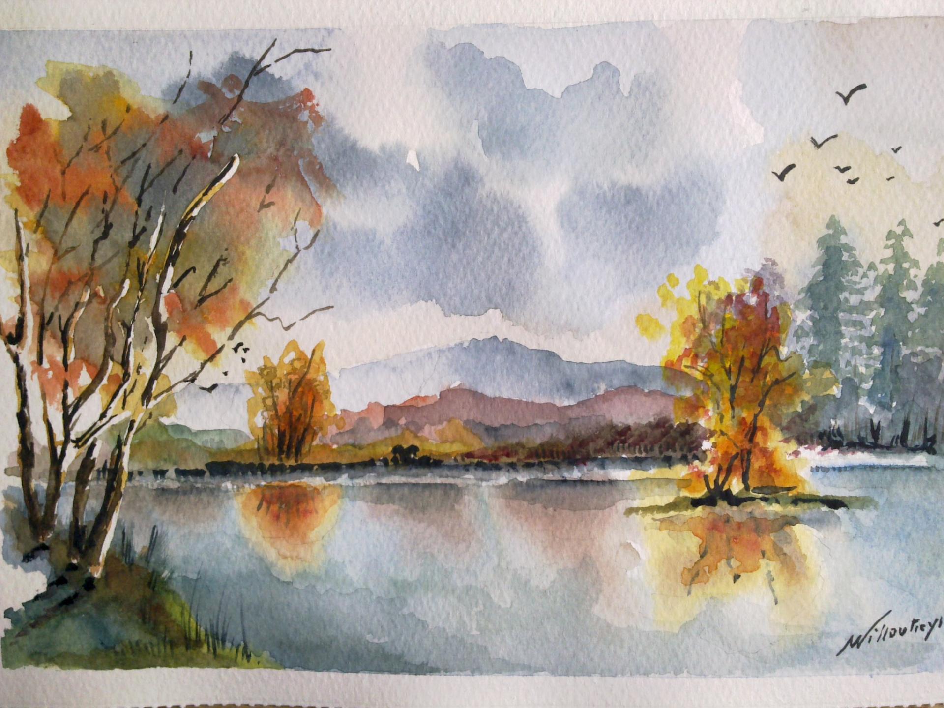 aquarelle automne