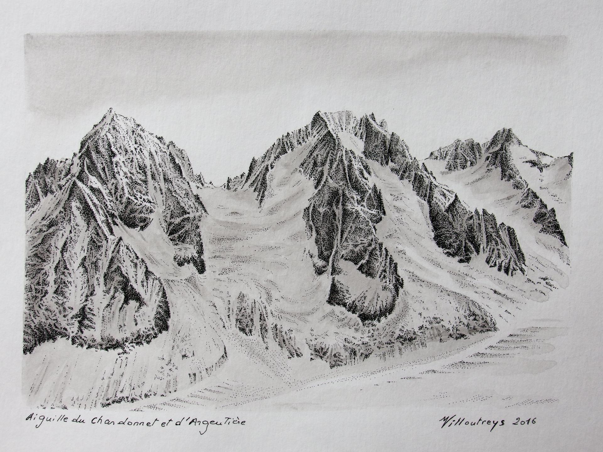 Aiguille du Chardonnet et d'Argentiere (massif du Mont-blanc)