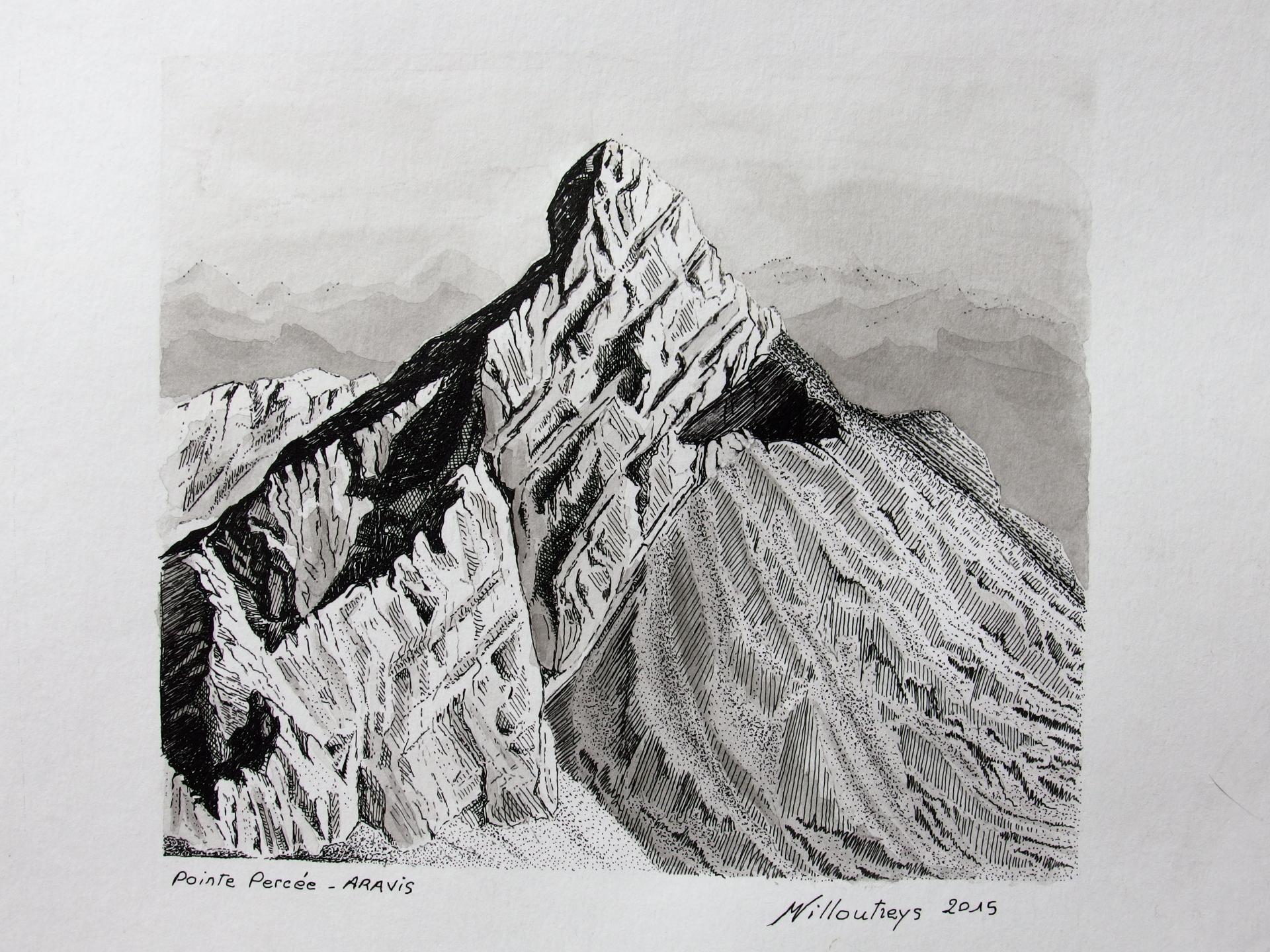 Pointe Percée (Chaîne des Aravis, Haute-Savoie)