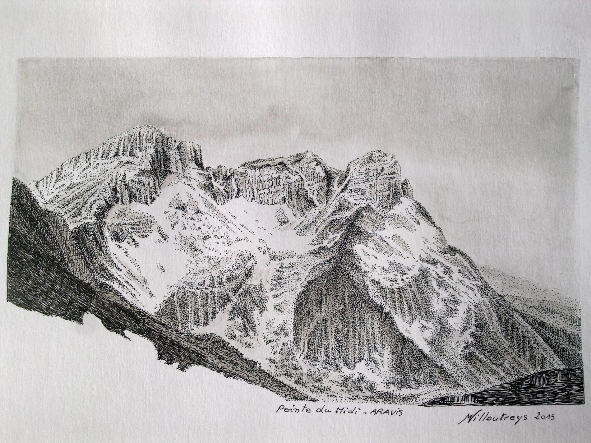 Pointe du Midi et Pointe de d'Zérat (Chaîne des Aravis)